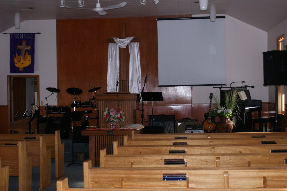 Our current worship area